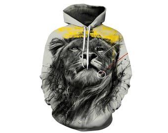 Lion Hoodie, Lion, Lion Hoodies, Animal Prints, Animal Hoodie, Animal Hoodies, Lions, Hoodie Lion, Hoodie, 3d Hoodie, 3d Hoodies - Style 15