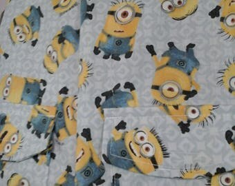 Youth Sz 14 Weighted Vest for Child w/Special Needs and Sensory Issues. Minionss on Gray Print