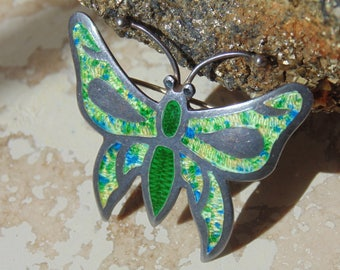 OBO - JF ~ Sterling and Enamel Butterfly Pin