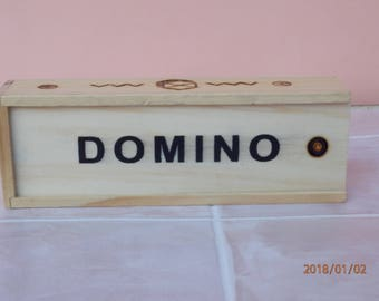 Dominoes - Wooden Dominoes - Domino Set - Wood Domino Set - Vintage Game - Kids Wooden Toy - Christmas Gift -Old Family Game