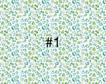 Printed Bow Making Fabric A4 Polyester Canvas *Watercolour Leopard Print*