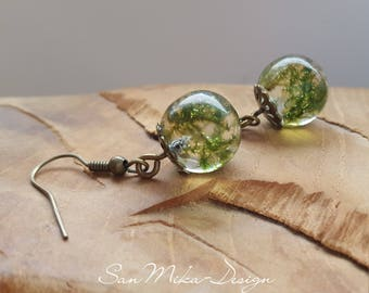 Resin Earrings * forest whispering *