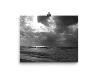 Sunlight after the storm photo print poster