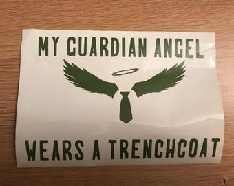 Supernatural decal/my guardian angel wears a trenchcoat