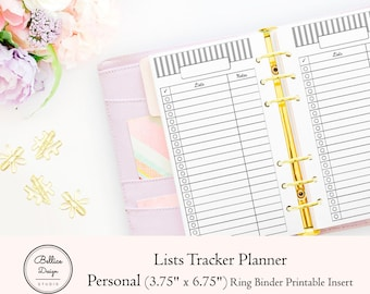 Daily Tracker, Daily To Do List, Tracker Planner Inserts, To Do List Notepad, Lists Planner, Personal Planner Inserts, Personal TN Inserts