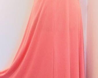1960s Sleeveless Maxi Dress, Size L