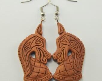 Ancient Knight Earrings Hooks, Dangling