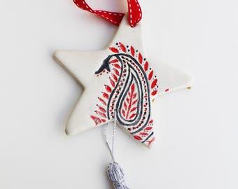 clay star decoration