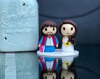 Back to the future wedding cake topper