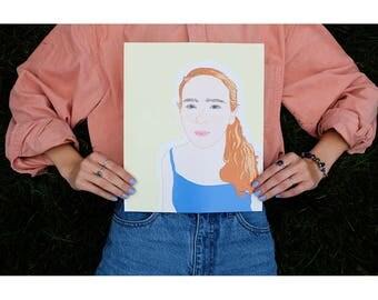 Custom Print   Custom Illustration   FINE ART PRINT   Personalised Gift   Custom Portrait   Custom Gift Idea