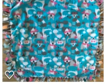Fleece Dog Blanket Toy