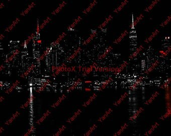NYC Skyline by Night, Artwork, Digital Art,  Art Prints or License for Art Prints