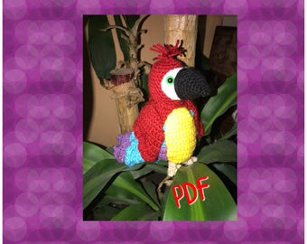 Tuto/pattern PDF coco perroquet crochet