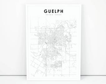 Guelph Map Etsy - Guelph map