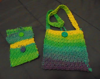 Matching Crocheted purse and wallet