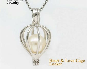 Heart and Love Pearl Cage