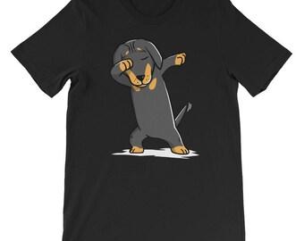 Cute Dachshund Dog Dabbing T-Shirt Funny Dab Dance Gift