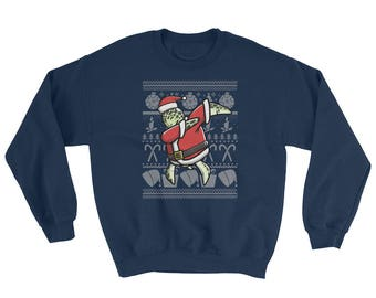 Funny Dabbing Sea Turtle Ugly Christmas Sweater Cute Dog Gift