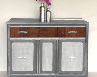 Hand Painted Vintage Buffet Can Be Used As Entry Table. Perfect For A  Family Coffee
