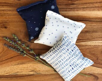 Lavender Drawer Sachets - Scented Pillows - Bedroom Decoration - Navy Blue Decor - Modern Bedroom Accessories - Lavender Gifts For Her