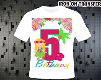 Hawai Girl , Iron On Transfer DIY , Hawai Girl DIY Birthday Shirt , Personalize Digital Design , Iron On Transfer , Digital File
