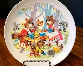 Vintage Three Bears Melamine Plate