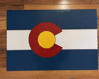 Colorado Flag Painted