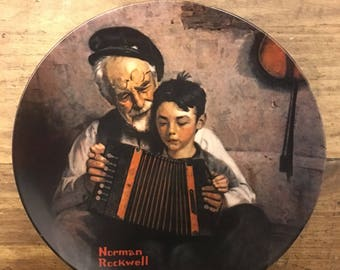 Norman Rockwell Plate - The Music Maker - 1981 with Authenticity Papers