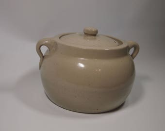 "Stoneware bean pot ""medalta potteries medicine hat alberta ltd"" number 2"