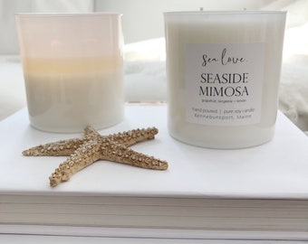 SEASIDE MIMOSA ••  best seller, soy candle, grapefruit soy candle, handpoured soy candle, vegan soy candle, natural candle, Sea Love Candle