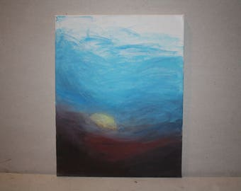 Deep Sunset 16x12 Acrylic Painting