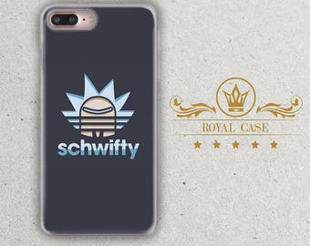 Schwifty, iPhone 7 Plus case, Rick and Morty, iPhone 8 Plus Case, iPhone 8 Case, iPhone 7 case, iPhone 6S Case, iPhone 6S Plus Case, 203