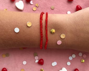 LOU duo bracelets RED •