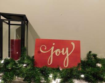 Joy Christmas Wood Sign