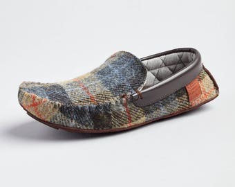 Harris Tweed Moccasin Slippers