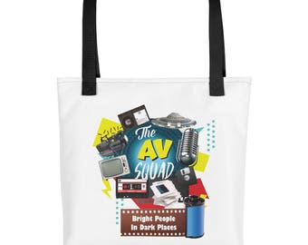 The AVSQUAD: Bright People In Dark Places Tote bag