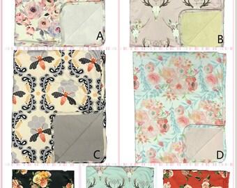 Soft Baby Blanket Take Home Minky Blanket boy gift girl gift Christmas gift Bird Nursery Decor New Baby gift New mom gift Gender Neutral