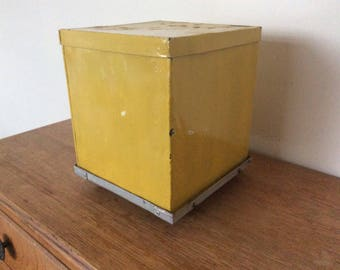 Vintage circa 1960's Industrial metal storage box