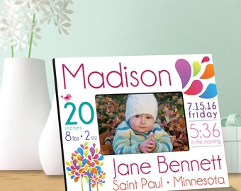 Personalized Baby Announcement Picture Frames - Baby Announcement Photo Frame - Baby Girl Photo Frames - Baby Boy Photo Frame - Baby Frames