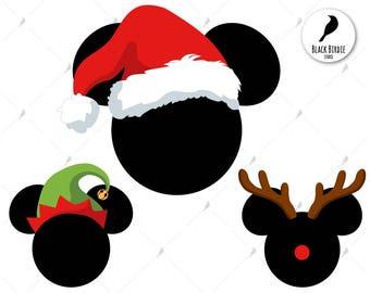 Santa Mickey svg, Mickey Santa clipart, Mickey Santa svg, Mickey Elf svg, Christmas Mickey Reindeer svg, hat svg – eps dxf png pdf svg files