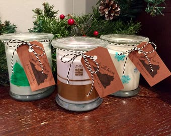 Hand Painted Holiday Candle