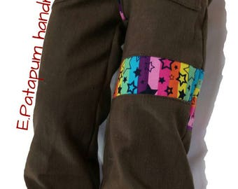 Yes trousers in various materials and various sizes