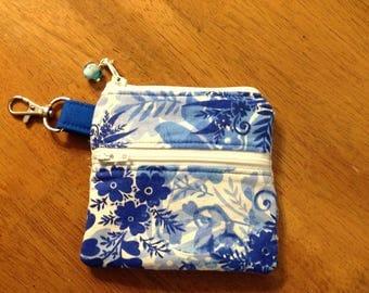 Small zipper pouch keychain, keychain, zipper pouch, credit card wallet, small zip pouch