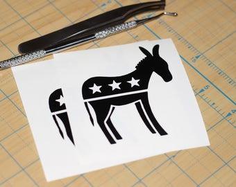Democrat symbol Decal  | Right wing Donkey symbol