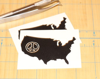 Peace in America  |  USA with a peace sign sticker