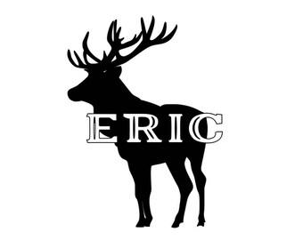 Deer Hunting Vinyl Decal, Custom, Name, Personalize, Yeti, Laptop, Car, Window