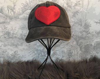 KIDS Sequin Heart Hat