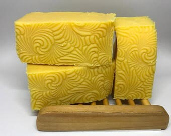 Unscented Cold Process Soap Bars with Carrot Puree 3 oz