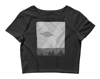 I Want to Believe, Women's Crop Tee, Women's Shirt, Tee Shirt, Graphic Tee, Alien Tee, Pop Culture, Crop Top, Funny Shirt, Aliens