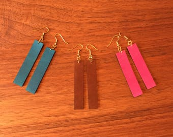 Leather Drop Earrings